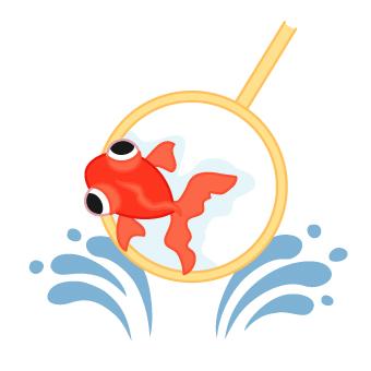 金魚すくいイラスト カット ... : 無料イラスト 塗り絵 : イラスト